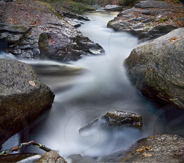 mist flowing river photo