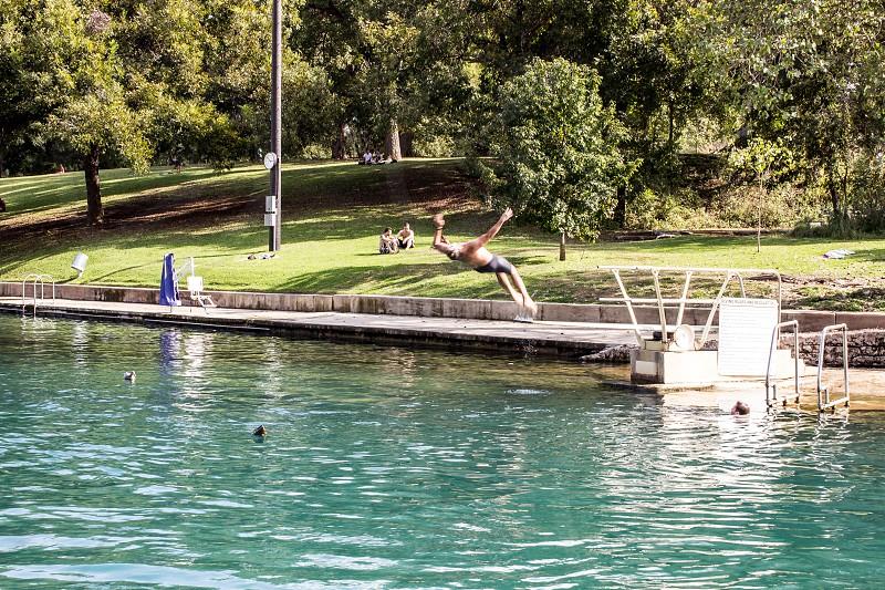 Barton Springs (back flip) photo