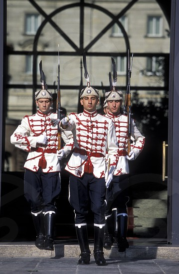 the guard of the parlament in the city of Sofia in Bulgaria in east Europe. photo