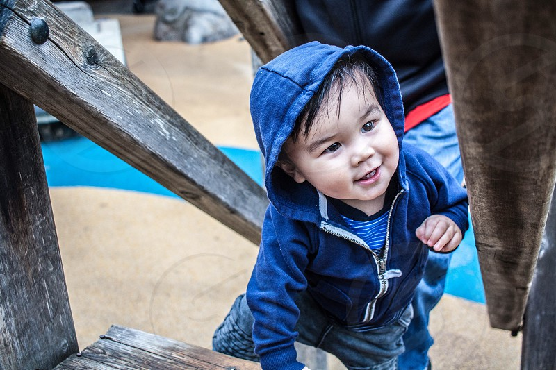 toddler curious climb photo