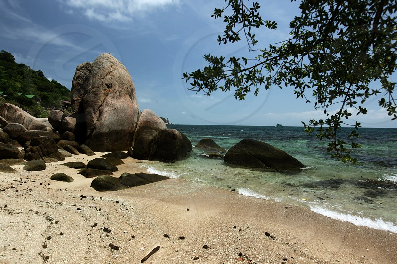 the Cape Je Ta Gang Beach on the Ko Tao Island in the Gulf of Thailand in the southeast of Thailand in Southeastasia. photo