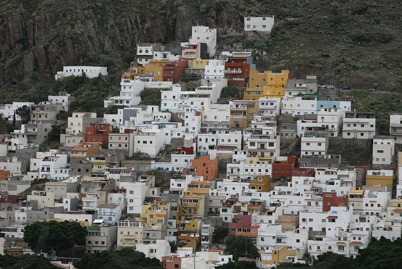 The village of San Andrea in the northeast of the Island of Tenerife on the Islands of Canary Islands of Spain in the Atlantic.   photo