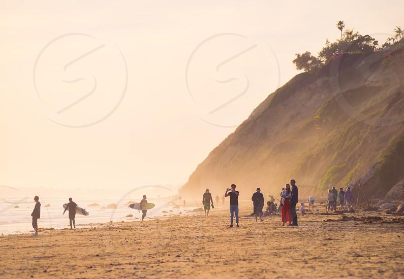 beach town beach santa barbara california surf people photo