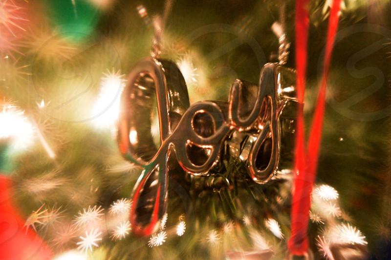 Joy Christmas ornament photo