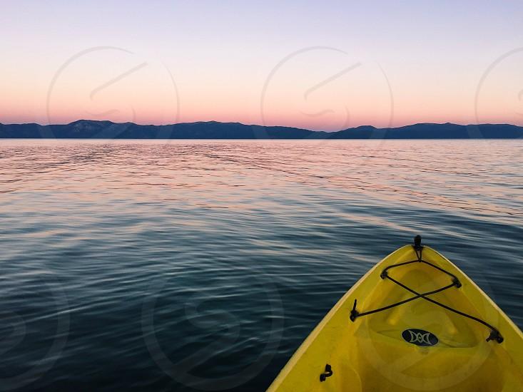 #laketahoe #kayak #sunset photo