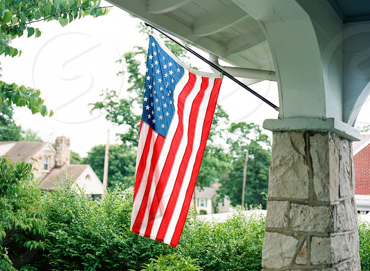 American Flag in historic Falmouth VA  Made with the Mamiya 645 pro on Kodak Porta400 photo