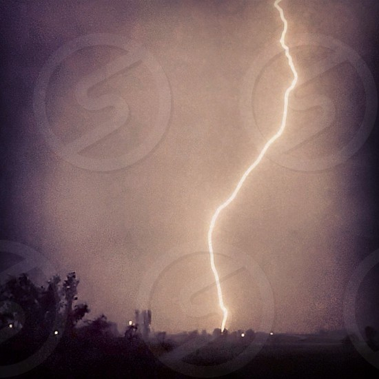 Lighting storm bright and intense  photo