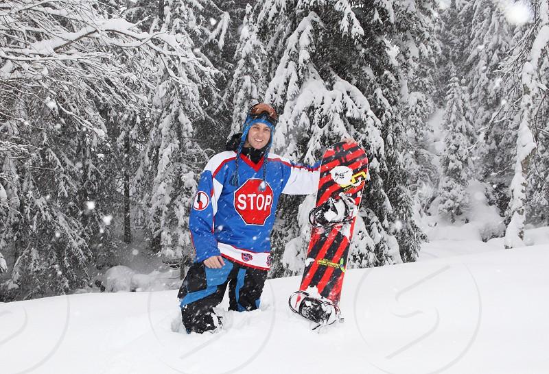 Winter sport snowboard  snow holiday  photo