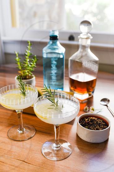 bar cocktails gin vodka photo