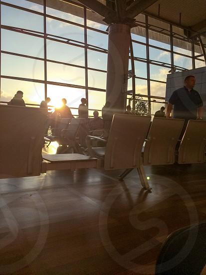 Airport Sunset photo