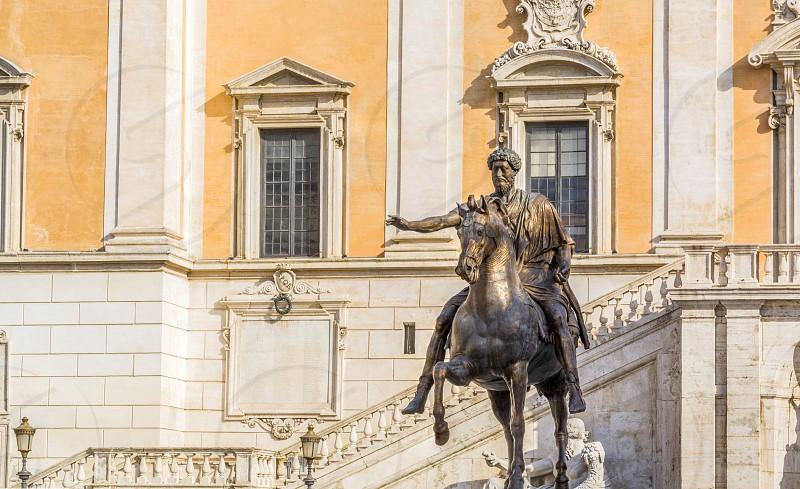equestrian statue of Marco aurelio photo