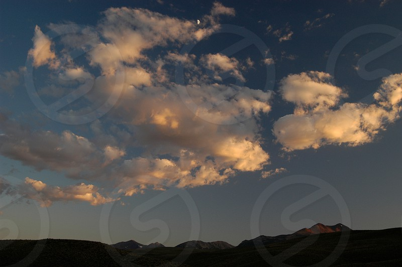 Couds. Sunset. Sky. Wyoming. photo