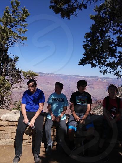 boys at the Grand Canyon photo