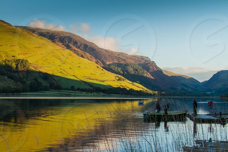 Early morning Tal Y Llyn North Wales photo