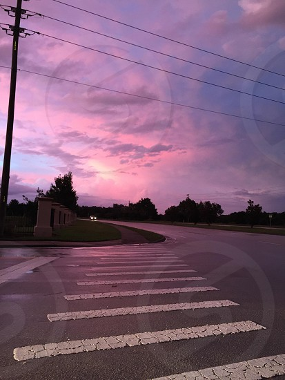 Beautiful sunset after a good old fashion Florida rain.  photo