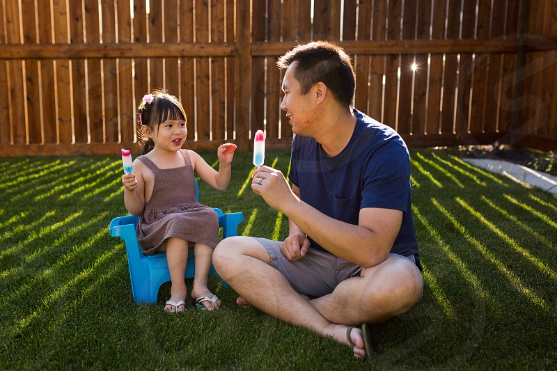Father Daughter Popsicle Picnic photo