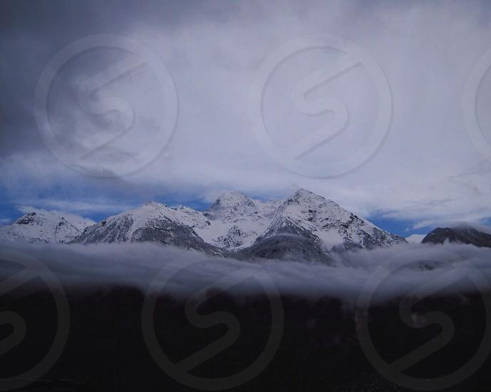 white mountain view photo