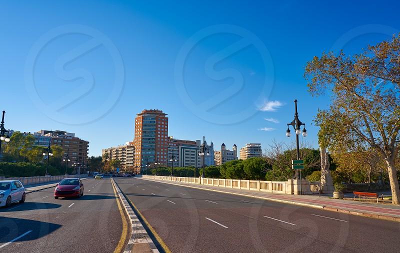 Valencia puente de Aragon bridge in Spain photo