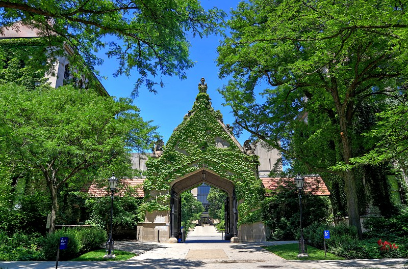 Chicago Illinois USA - June 23 2018  - The University of Chicago located in the Hyde Park neighborhood. photo