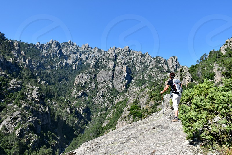 Hiking in Corsica photo