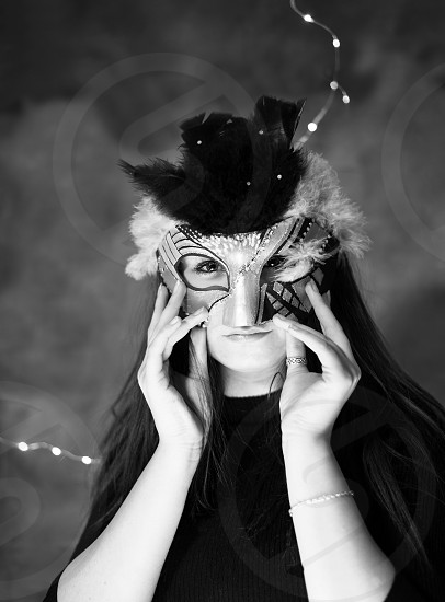woman in mask photo