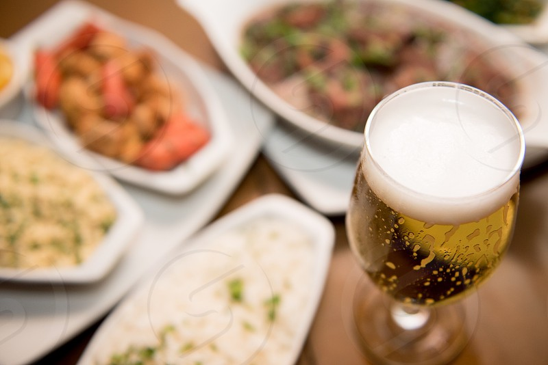 Cold beer and appetizer to celebrate summer time with friends! photo