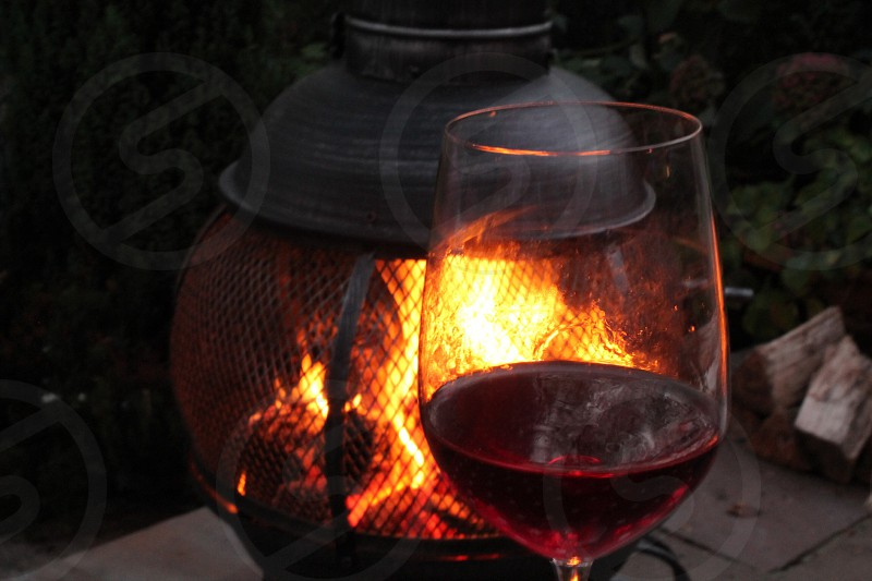 Tasting by the evening fire photo