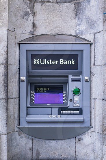 Ulster Bank ATM in Ireland. photo