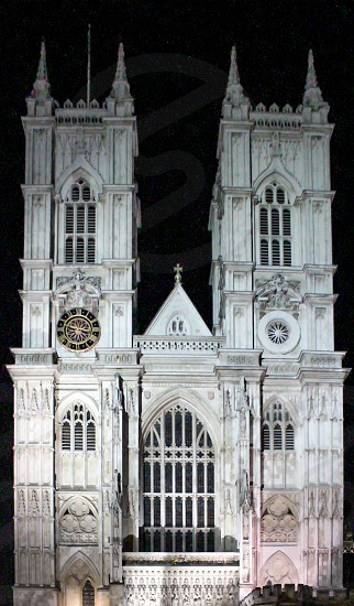 Europe London Westminster Abbey Architecture Night  photo