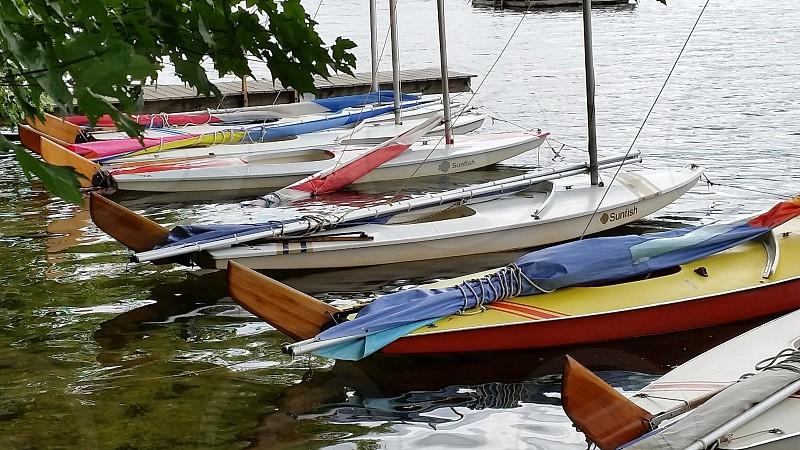 Lake boats water camp photo