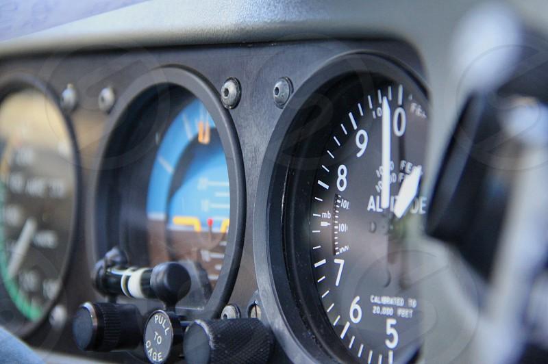Analog gauges of a Cessna SR22 at 11000 ft. photo
