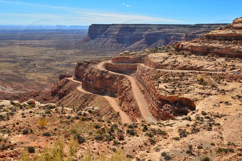 The road to Natural Bridges Park; Utah photo
