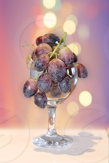 A glass of raw wine photo
