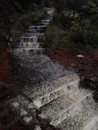 Flooded steps in Hvar photo