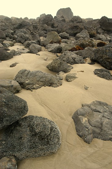 Sand and rocks. photo