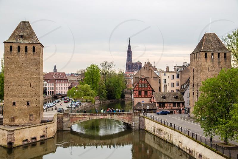 Barrage Vauban bridge in Strasbourg France photo