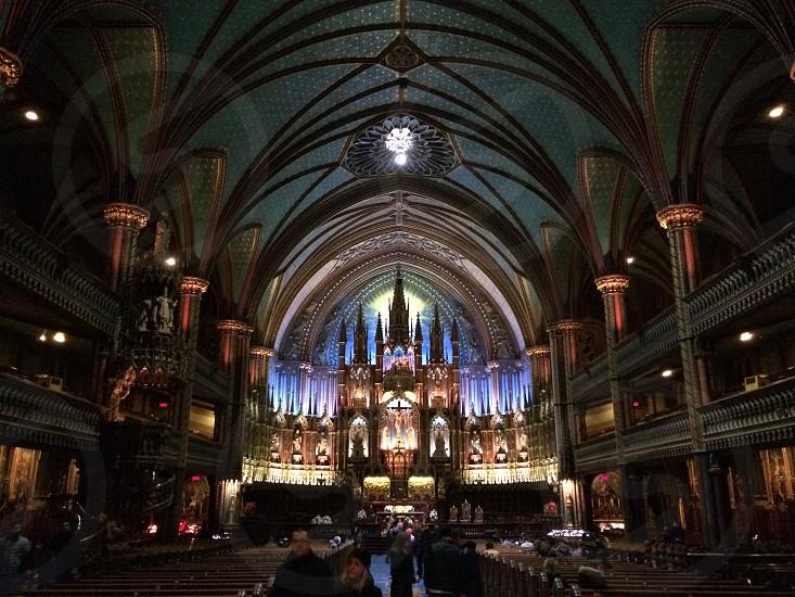Basilique Notre-Dame Montréal. photo