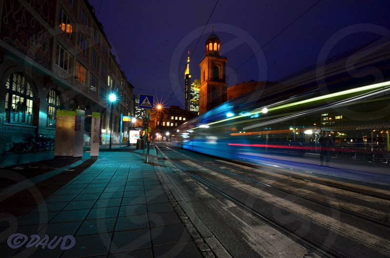 Frankfurt at night photo