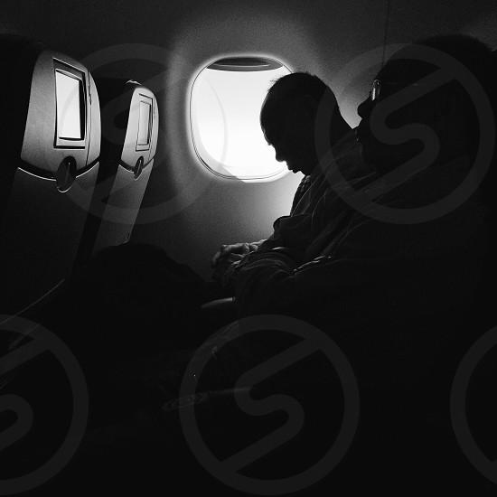 Napping plane JetBlue photo