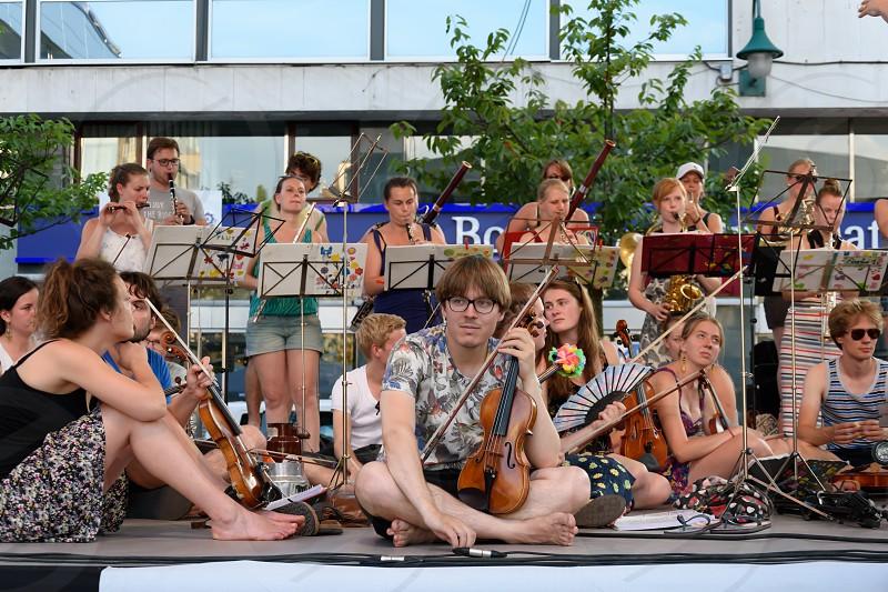 Netherlands ensemble Ricciotti perform live at Trg djece Sarajeva photo