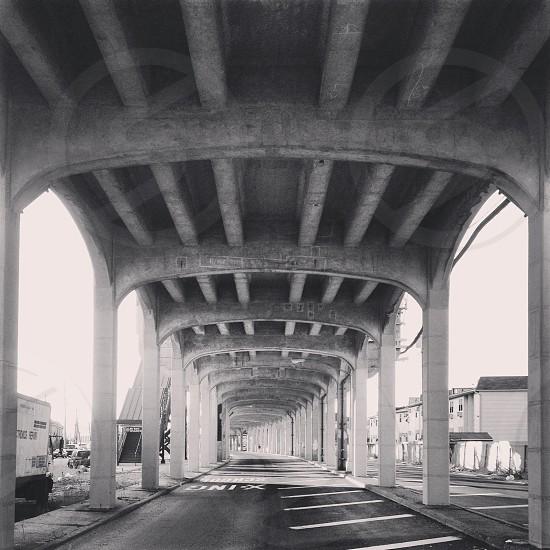 gray cement post photo