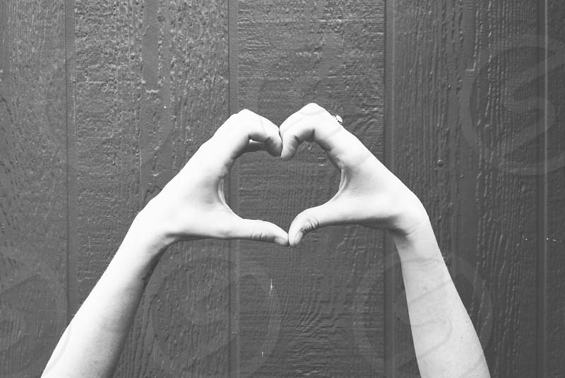 hands making heart shape photo