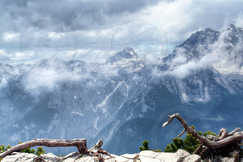 View from mountain Kehlstein (Eagle´s nest) Germany photo