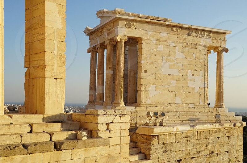Temple of Athena Nike on the Acropolis in Athens Greece photo