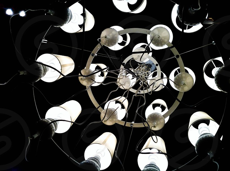 circle circles light lights chandelier chandeliers photo
