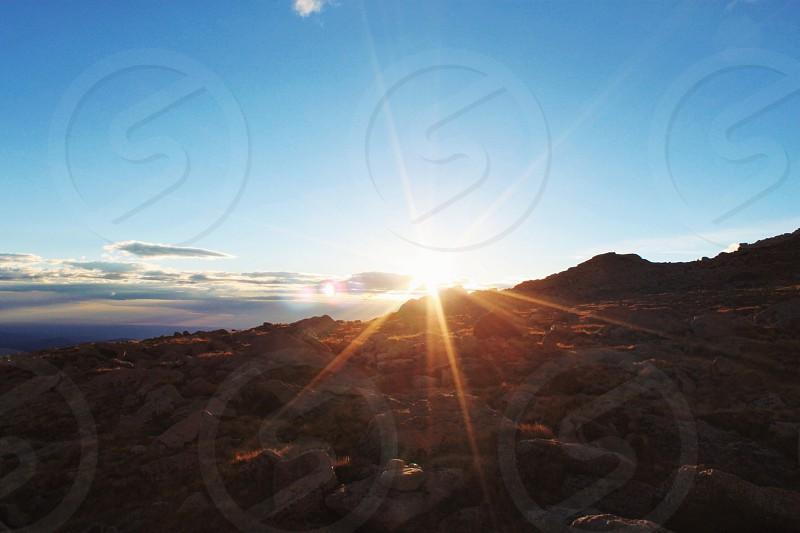 sun silhouette  photo