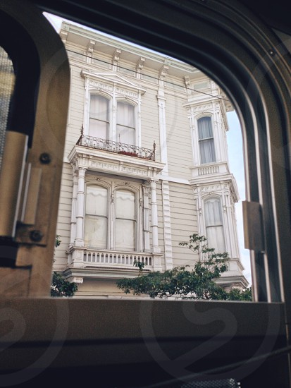 San Francisco house from bus photo