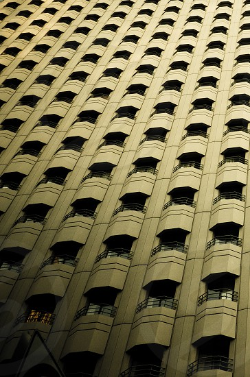 Pattern of Skyscraper Balconies. photo