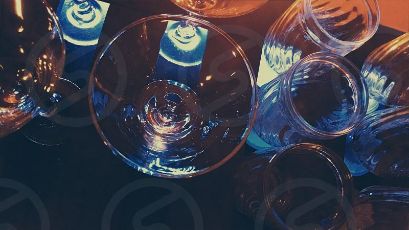 round clear shot glasses photo