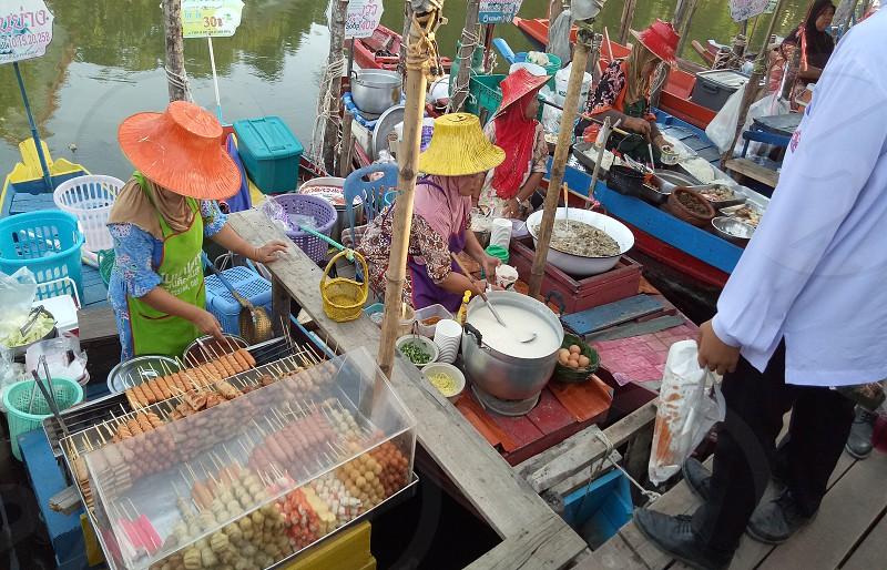 Floating market in Hatyai Thailand photo